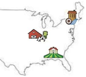 U.S. 3 regions map Image